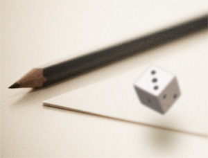 Pencil, paper and dice